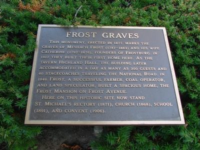 Frost Graves Marker image. Click for full size.