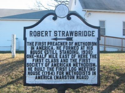 Robert Strawbridge Marker image. Click for full size.