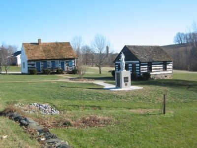 Log Meeting House image. Click for full size.