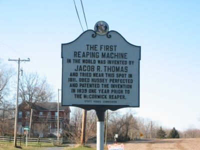 The First Reaping Machine Marker image. Click for full size.