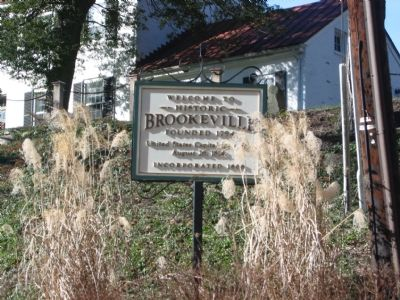 Historic Brookeville Marker image. Click for full size.