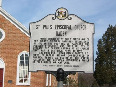 St. Paul's Episcopal Church Baden Marker image. Click for full size.