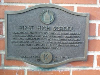 First High School Marker image. Click for full size.