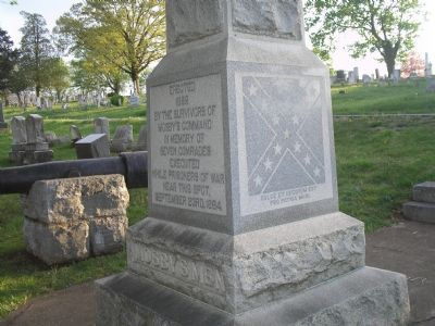 Closeup of Mosby's Men Monument image. Click for full size.