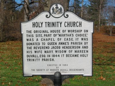 Holy Trinity Church Marker image. Click for full size.