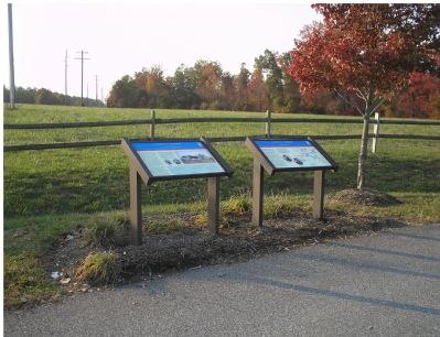 Two of three Civil War Trails markers at Todd's Tavern image. Click for full size.