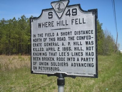 A,P. Hill Death marker image. Click for full size.
