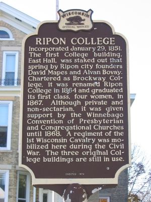 Ripon College Marker image. Click for full size.
