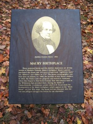 Maury Birthplace Marker image. Click for full size.