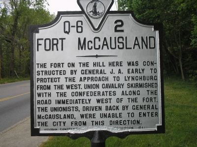 Fort McCausland marker image. Click for full size.
