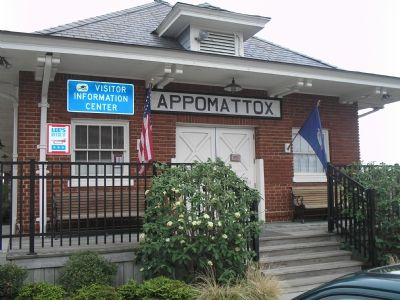 Appomattox Station and Visitors Center image. Click for full size.