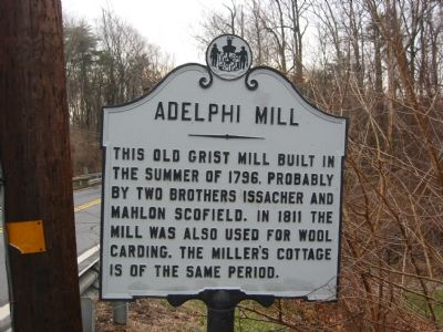 Adelphi Mill Marker image. Click for full size.