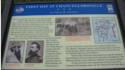 The First Day at Chancellorsville Marker image. Click for full size.