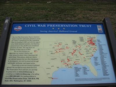 Civil War Preservation Trust <br>Saving America&#39;s Hallowed Ground image. Click for full size.
