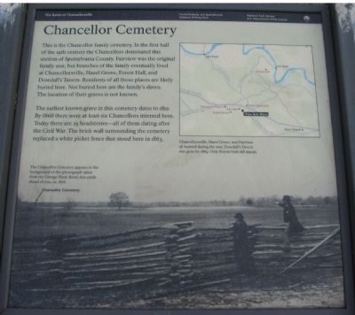 Chancellor Cemetery Marker image. Click for full size.