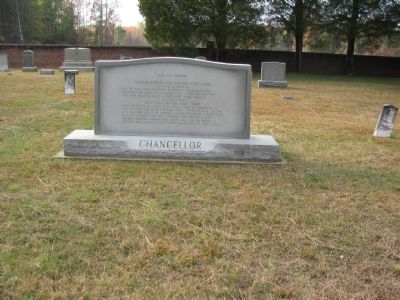 Headstones in the Chancellor Cemetery image. Click for full size.