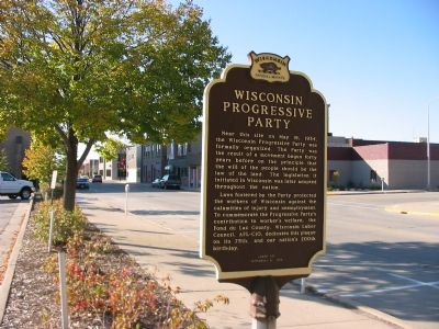 Wisconsin Progressive Party Marker image. Click for full size.