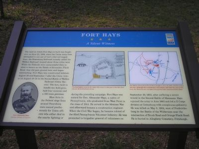 Fort Hays marker image. Click for full size.