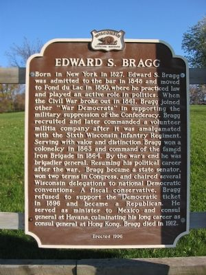 Edward S. Bragg Marker image. Click for full size.