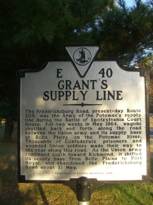 Grant's Supply Line Marker image. Click for full size.