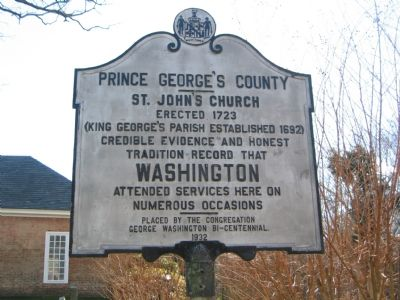 Prince George's County - St. John's Church Marker image. Click for full size.