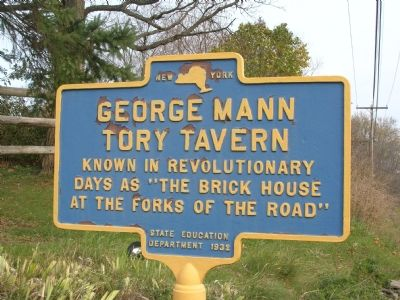 George Mann Tory Tavern Marker image. Click for full size.