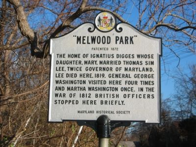 """Melwood Park"" Marker image. Click for full size."