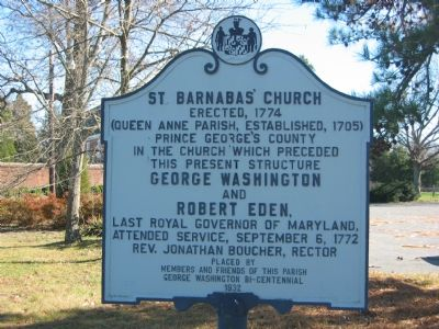 St. Barnabas' Church Marker image. Click for full size.