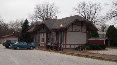 Covered Bridge Capital Center - - In 1883 Railroad Depot image. Click for full size.