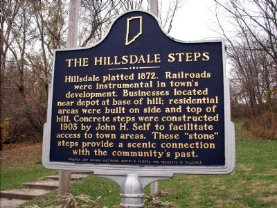 The Hillsdale Steps Marker image. Click for full size.