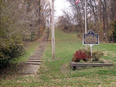 The Hillsdale Steps and Marker image. Click for full size.