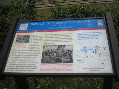 Battle of Savage's Station Civil War Trails marker image. Click for full size.