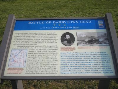 Battle of Darbytown Road marker image. Click for full size.
