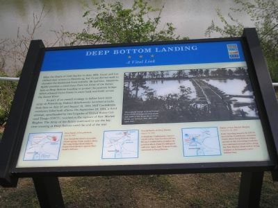 Deep Bottom Landing Civil War Trails marker image. Click for full size.