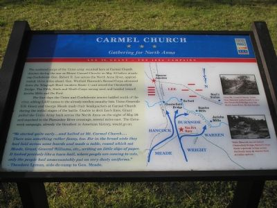 Carmel Church Civil War Trail marker image. Click for full size.