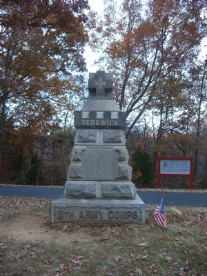 West face of Sedgwick Marker image. Click for full size.