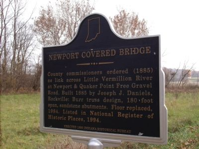 Newport Covered Bridge Marker image. Click for full size.