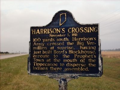 Harrison's Crossing - November 3, 1811 Marker image. Click for full size.