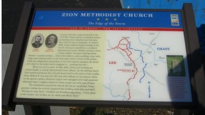 Zion Methodist Church Marker image. Click for full size.