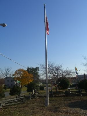 Zion United Methodist Church Flagpole image. Click for full size.
