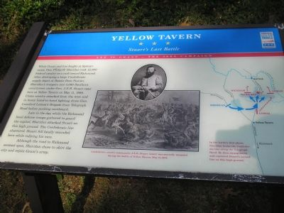 Yellow Tavern - Stuart's Last Battle Civil War Trails marker image. Click for full size.