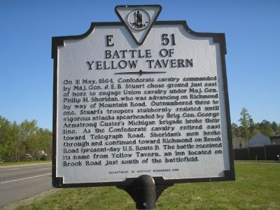 Battle of Yellow Tavern marker image. Click for full size.