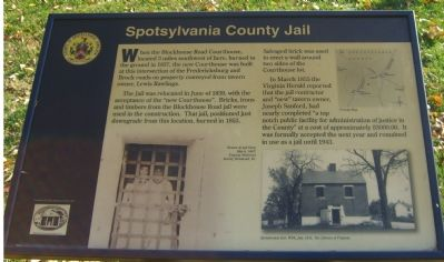 Spotsylvania County Jail Marker image. Click for full size.