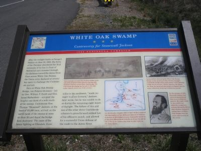 White Oak Swamp Civil War Trails marker image. Click for full size.