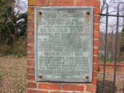 The Site of the Residence of Dr. William Beanes Marker image. Click for full size.