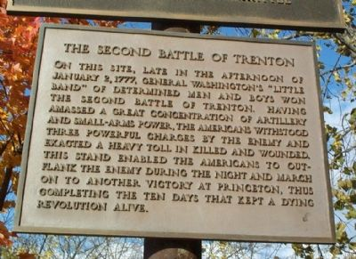 The Second Battle of Trenton Marker image. Click for full size.