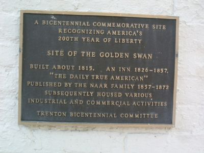Site of the Golden Swan Marker image. Click for full size.