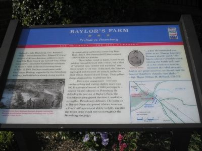 Baylor's Farm  -  Prelude to Petersburg marker image. Click for full size.