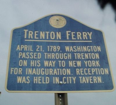 Trenton Ferry Marker image. Click for full size.