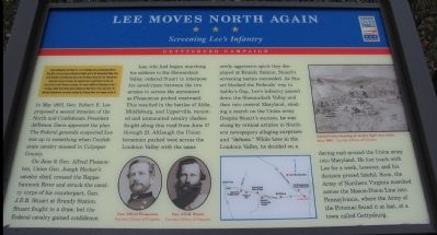 Lee Moves North Again Marker image. Click for full size.